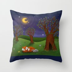 Dreaming The Night Away Throw Pillow