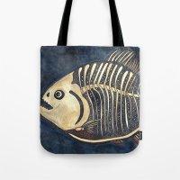 Skele-piranha Tote Bag