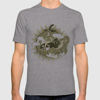 Peach Bomb Mens Fitted Tee Athletic Grey SMALL