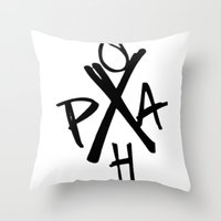 Penn-Ohio Underground - Hardcore Logo Throw Pillow