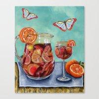 Sangria Summer Canvas Print