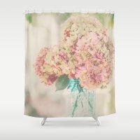 Dreamy Autumn Hydrangea Flowers Still Life Shower Curtain