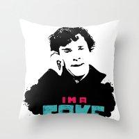 I'm a Fake Throw Pillow