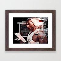 K(NO)W x LEDGE = NO LEDGE Framed Art Print