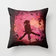 Chasing The Wind (pink) Throw Pillow
