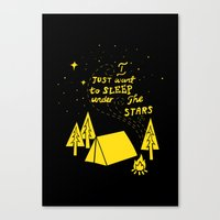 I Just Want To Sleep Under The Stars Canvas Print