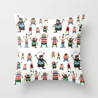 Pirates Made Of Paper Throw Pillow