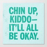Chin Up Canvas Print