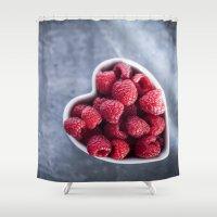 Raspberries For A Health… Shower Curtain