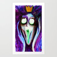 Madness Of The Queen Art Print