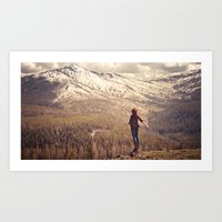 Whit on Top of the World Art Print