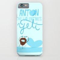 iPhone & iPod Case featuring Anton, the Valentine´s Yeti by Juliana Rojas   Puchu