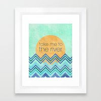 Take Me To The River Framed Art Print