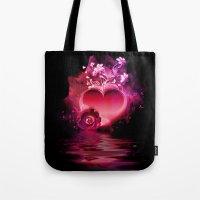 Flooding Heart Tote Bag