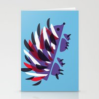 Colorful Abstract Hedgehog Stationery Cards