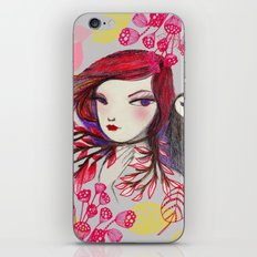 Red Owl Gal iPhone & iPod Skin