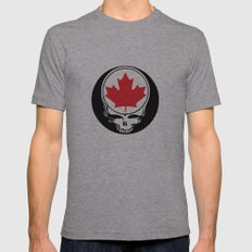 Canadian Steal Your Face Mens Fitted Tee Athletic Grey SMALL