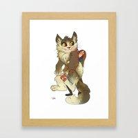 Big Kitty Framed Art Print