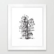 a humble residence Framed Art Print