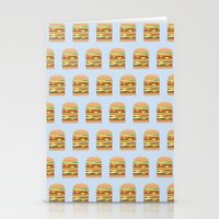 BURGER PATTERN Stationery Cards
