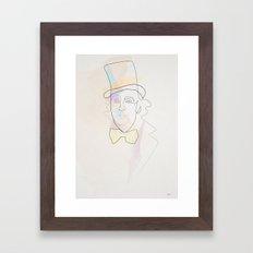 One Line Willy Wonka 1971 (Gene Wilder) Framed Art Print