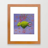 the deer sheep Framed Art Print