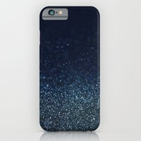iPhone Cases featuring Shiny Glittered Rain by cafelab