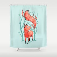 Winter Fox Shower Curtain