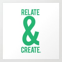 Relate & Create (Green) Art Print