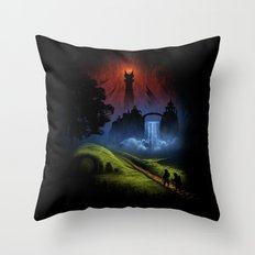 Over The Hill - The Lord Of The Rings Throw Pillow
