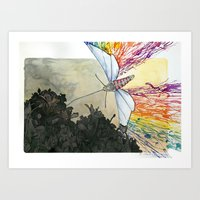 The Effect of Light in Darkness Art Print