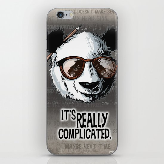 it's really complicated. iPhone & iPod Skin
