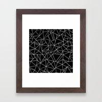 Abstraction Outline Blac… Framed Art Print