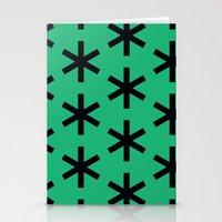 Vondel Black On Green Pa… Stationery Cards