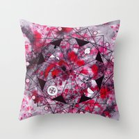 midnight mandala Throw Pillow