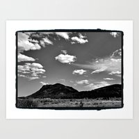 Clouds and Mountains Art Print