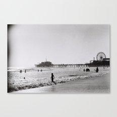 Santa Monica on Film Canvas Print