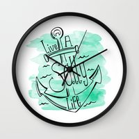 Live A Salty Life Wall Clock