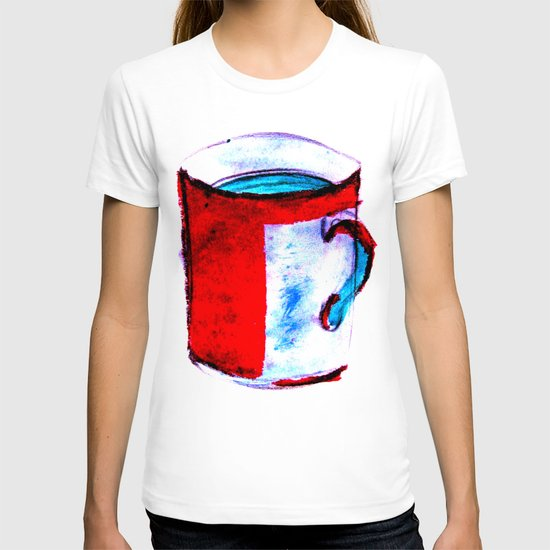 big coffee cup T-shirt