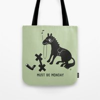 Must Be Monday, Horse Tote Bag