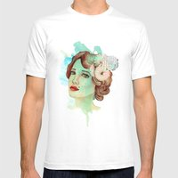 Retro Woman 2 Mens Fitted Tee White SMALL