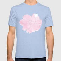 Gardenia Mens Fitted Tee Tri-Blue SMALL