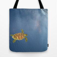 hawksbill swimming in the sky Tote Bag