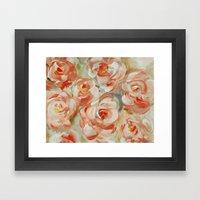 Shabby Flowers Framed Art Print