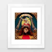 Uncle Edgar and the Hybrid Circus Framed Art Print