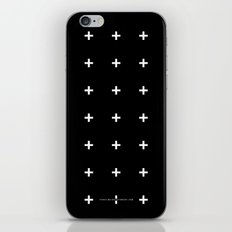 White Plus On Black /// … iPhone & iPod Skin