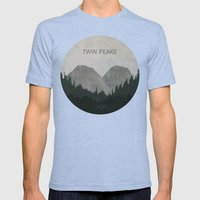 Twin Peaks Mens Fitted Tee Tri-Blue SMALL