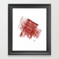 Red Robot! Framed Art Print