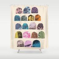 EIGHTEEN GRAVES Shower Curtain