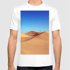 Desert blue Mens Fitted Tee White SMALL